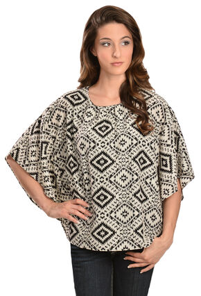 Red Ranch Women's Black & White Pebble Tunic, Black, hi-res