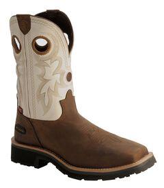 Tony Lama 3R White Waterproof Cheyenne Chaparral Boots - Comp Toe, , hi-res