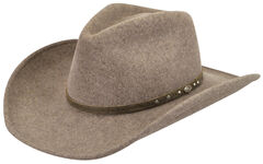 Wind River by Bailey Men's Gleeson Brown Felt Hat, , hi-res