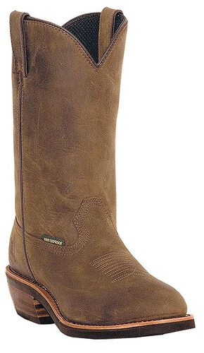 Dan Post Albuquerque Waterproof Pull-On Work Boots - Steel Toe, Tan, hi-res