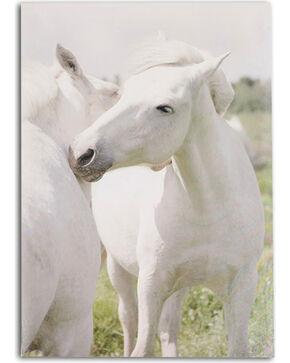 BB Ranch Cuddling Horses Canvas Wall Art, No Color, hi-res