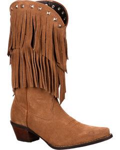 Durango Women's Crush Fringe Western Boots, , hi-res