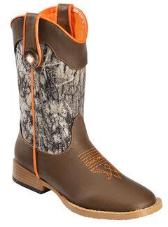 Double Barrel Boys' Buckshot Side Zipper Cowboy Boots - Square Toe, , hi-res