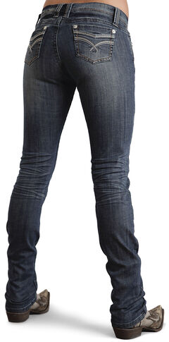 Stetson Women's Stovepipe 541 Fit Embroidered Skinny Jeans, , hi-res