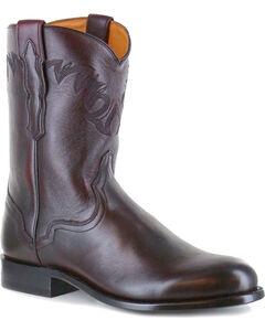 El Dorado Men's Black Cherry Vanquished Calf Roper Cowboy Boots - Round Toe, , hi-res