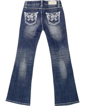 Rock & Roll Cowgirl Girls' Chevron Bling Jeans - Boot Cut , Indigo, hi-res