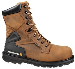 "Carhartt Men's 8"" Bison Waterproof Work Boots - Safety Toe, , hi-res"