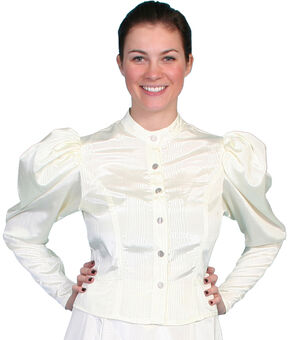 WahMaker by Scully Women's Classic Old West Blouse, Natural, hi-res