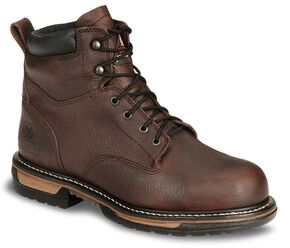 "Rocky 6"" IronClad Waterproof Work Boots - Steel Toe, Bridle Brn, hi-res"
