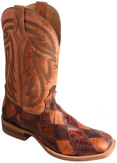 Twisted X Peanut Caiman Rancher Cowboy Boots - Square Toe , , hi-res