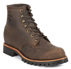 "Chippewa Classic 6"" Lace-Up Work Boots - Round Toe, , hi-res"