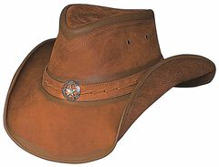 Bullhide Copper Creek Leather Hat, , hi-res