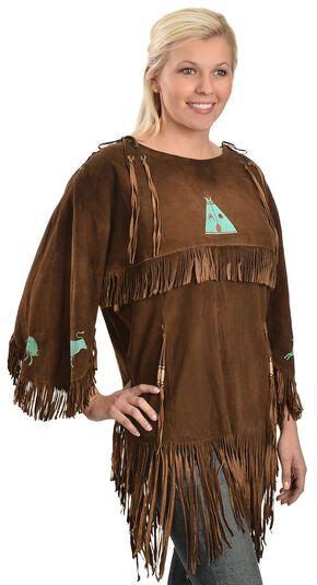 Kobler Leather Picachu Fringe Shirt, Acorn, hi-res