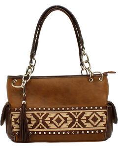 Blazin Roxx Shania Collection Aztec Ribbon Satchel, , hi-res