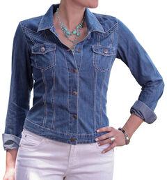 Ryan Michael Women's Denim Jean Jacket, , hi-res