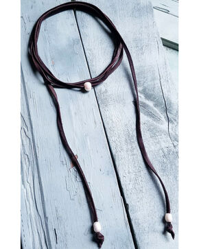 Jewelry Junkie Women's Freshwater Pearl Lariat Necklace , Brown, hi-res