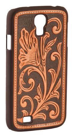 Nocona Floral Tooled Galaxy S4 Case, Tan, hi-res