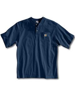 Carhartt Short Sleeve Henley Work Shirt - Big & Tall, , hi-res