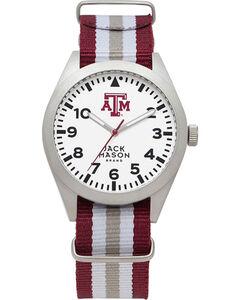 Jack Mason Men's Texas A&M Striped Nato Strap Watch , , hi-res