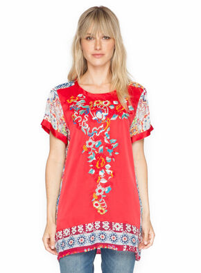 Johnny Was Women's Yokito Embroidered Top, Multi, hi-res