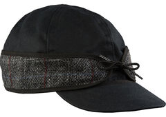 Stormy Kromer Men's Black Harris Tweed Waxed Cotton Cap, , hi-res