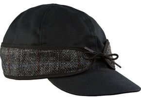 Stormy Kromer Men's Black Harris Tweed Waxed Cotton Cap, Multi, hi-res