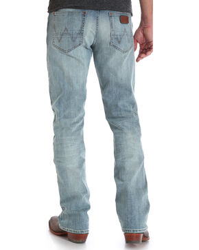 Wrangler Men's Indigo Retro Slim Fit Jeans - Boot Cut - Long, Indigo, hi-res