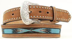 Nocona Top Hand Aztec Woven Inlay Belt, , hi-res