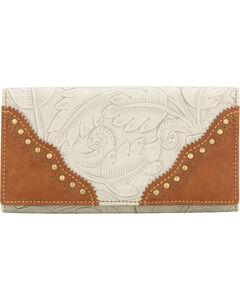 Bandana by American West Castle Rock Flap Wallet, Cream, hi-res