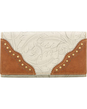 Bandana by American West Castle Rock Flap Wallet, Cream, hi-res