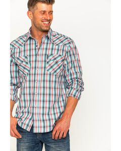 Cinch Men's Light Blue Modern Fit Double Pocket Long Sleeve Shirt, , hi-res