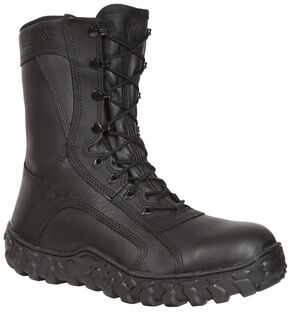 Rocky Men's S2V Flight Ops Steel Toe Tactical Military Boots, Black, hi-res