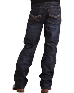"Stetson Modern Fit Deco Double ""X"" Stitched Jeans - Big & Tall, Dark Stone, hi-res"