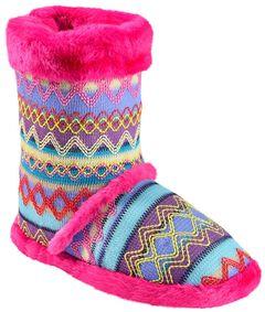 Blazin Roxx Women's Colorful Woven Slipper Booties, , hi-res