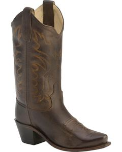Old West Children's Fashion Stitched Cowboy Boots - Snip Toe, , hi-res