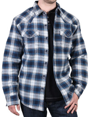 Cody James Men's Shasta Blue Plaid Flannel Shirt, Blue, hi-res