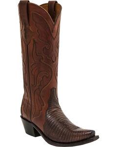 Lucchese Carmen Lizard Triad Cowgirl Boots - Snip Toe , , hi-res