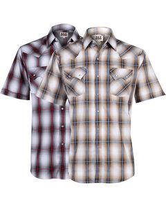 Ely Cattleman Men's Plaid Assorted Short Sleeve Shirt - Big, Multi, hi-res