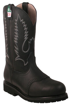 Boulet Pull-On Vibram Kevlar Work Boots - Steel Toe, , hi-res