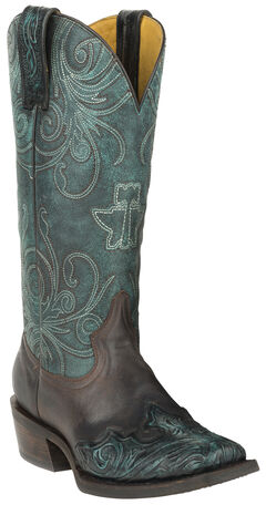 Tin Haul My Blue Heaven Cowgirl Boots - Square Toe , , hi-res