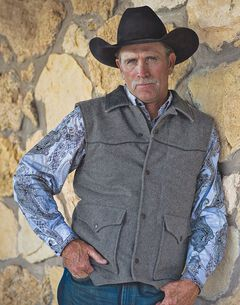 STS Ranchwear Men's Lariat Charcoal Grey Vest - Big & Tall - 2XL-3XL, , hi-res