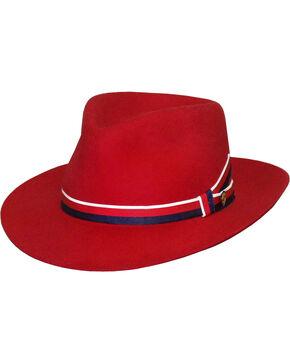 Stetson Women's Aviatrix Fedora Hat , Red, hi-res