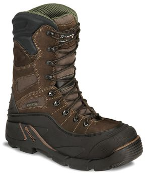 "Rocky 9"" Blizzard Stalker Work Boots - Steel Toe, Brown, hi-res"