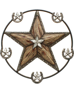 Western Moments Star and Horseshoe Wall Hanger, Brown, hi-res