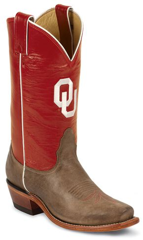 Nocona Women's University of Oklahoma College Boots - Snip Toe, Tan, hi-res