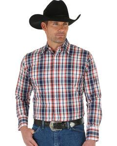 Wrangler Men's Wrinkle Resist Plaid Shirt, , hi-res