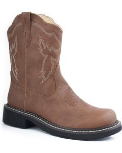 Roper Chunk Riderlite Cowgirl Boots - Round Toe, , hi-res