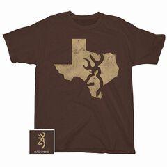 Browning Distressed Texas Screen Print T-Shirt, , hi-res