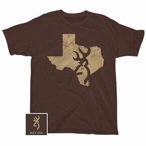 Browning Distressed Texas Screen Print T-Shirt, Russet, hi-res