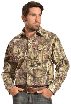 Gibson Trading Co. Men's Camo Long Sleeve Work Shirt, , hi-res